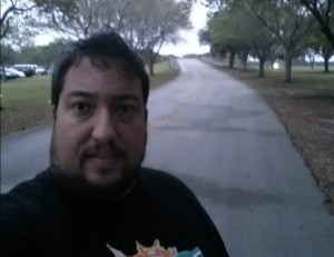 """Early morning starting-line selfie, with the daunting """"hell hill"""""""