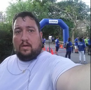 Photo of me, dying at the finish line.